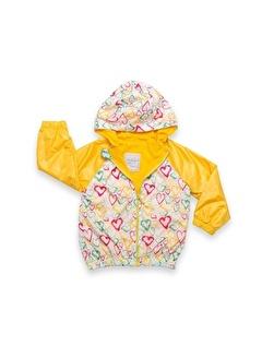 Vip Bebe Bebessi Renkli Kalp Baskılı Kız Yagmurluk
